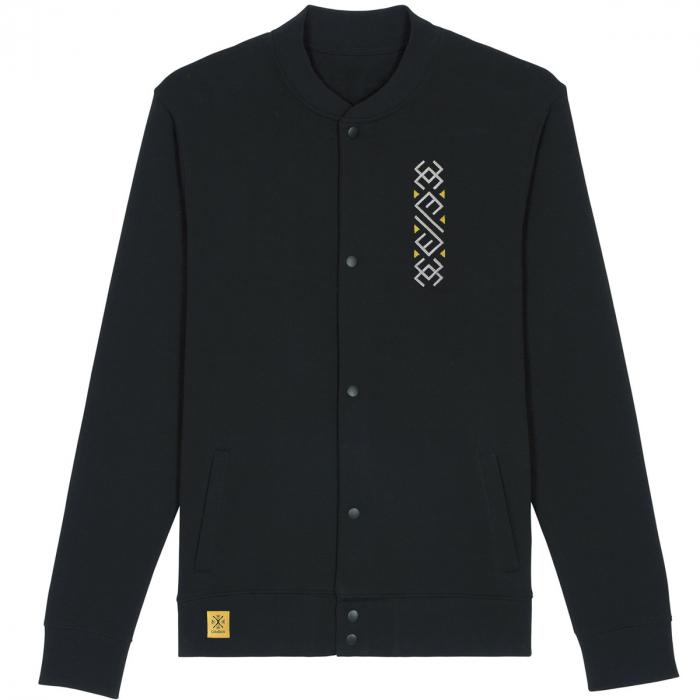 Jachetă Semne Bune, broderie, culoare neagră 0