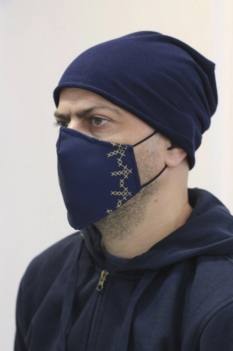 Mască textilă Simboluri Românești 1