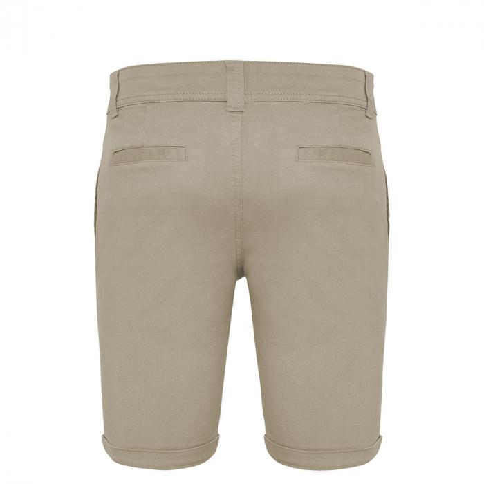 Pantaloni scurți casual ColorEscu, broderie, culoare bej [3]