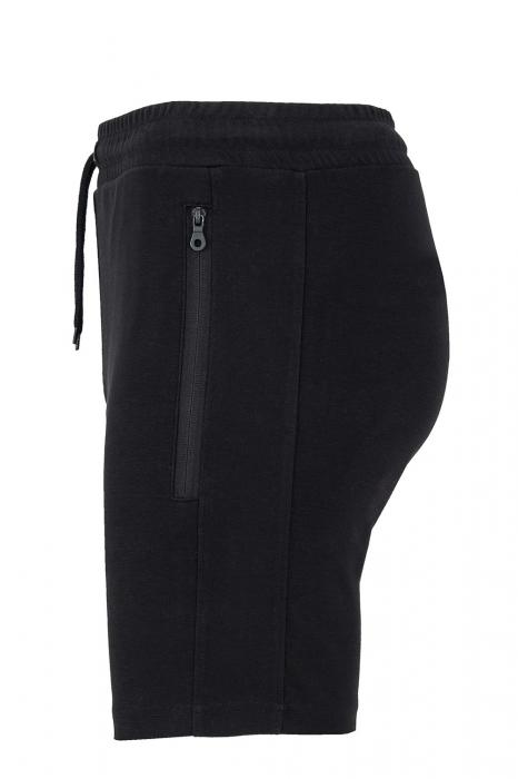 Pantaloni scurți Lupul Dacic, broderie, culoare neagră 2