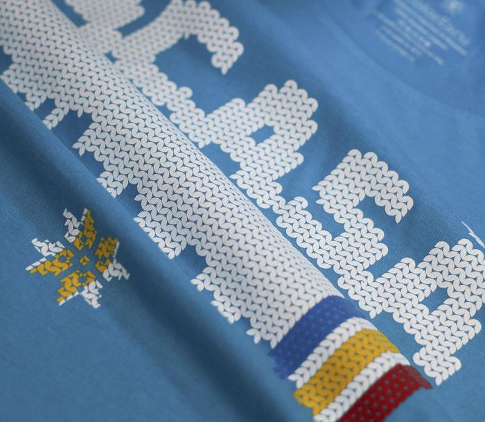 Tricou Acasă, damă, culoare albastră 1