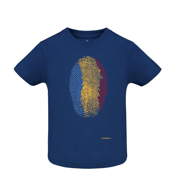 Tricou Amprentă România, copii, culoare bleumarin [0]