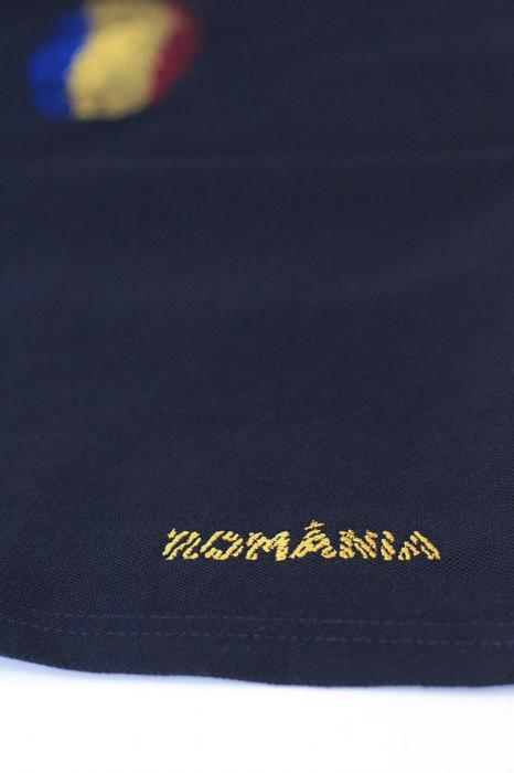 Tricou Amprentă România, polo, broderie, densitate mare, bărbat, culoare bleumarin [1]