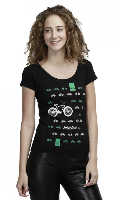 Tricou Biciclesc, damă, culoare neagră 1