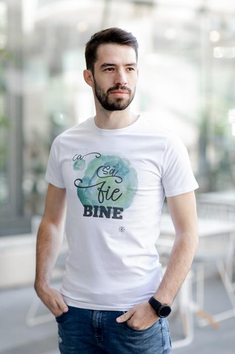 Tricou Ca să fie bine, bărbat, culoare albă [4]
