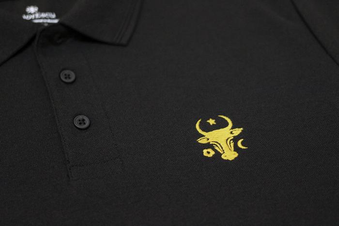 Tricou Cap de Bour, broderie, culoare neagră [1]