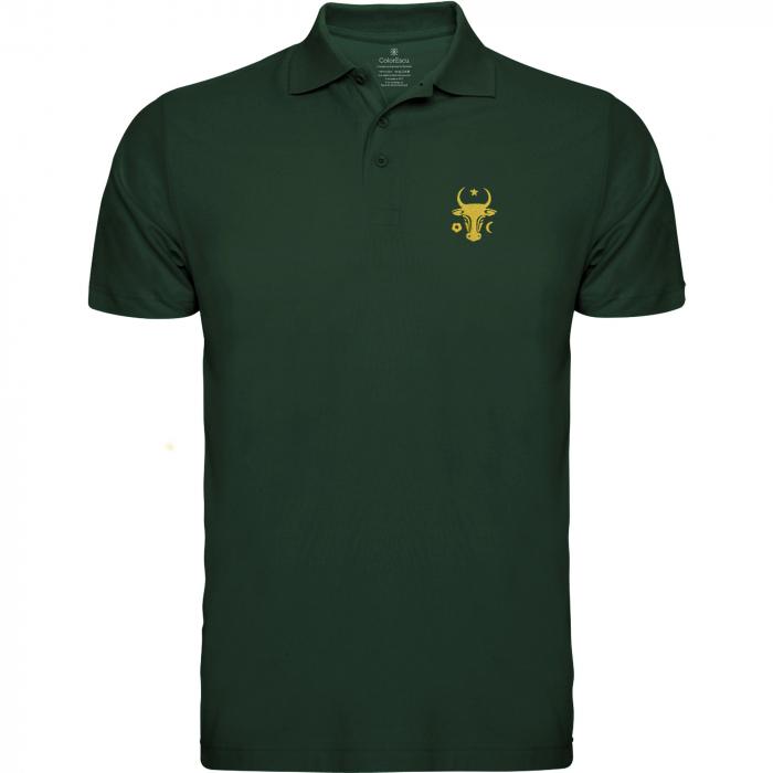 Tricou Cap de Bour, broderie, culoare verde 0