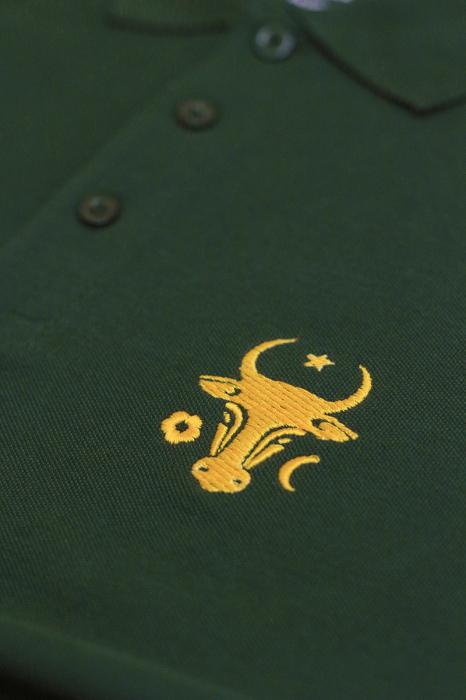 Tricou Cap de Bour, broderie, culoare verde 1
