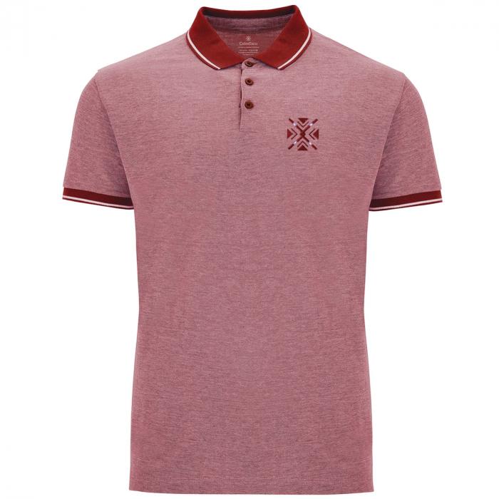 Tricou ColorEscu, broderie, culoare roșu 0