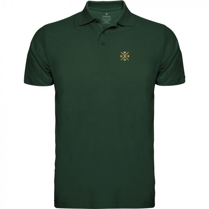Tricou ColorEscu, broderie, culoare verde 0