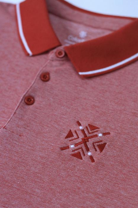 Tricou ColorEscu, broderie, culoare roșu 1