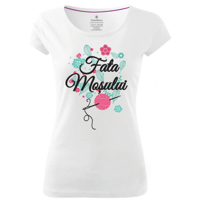 Tricou Fata Moșului, culoare albă 0
