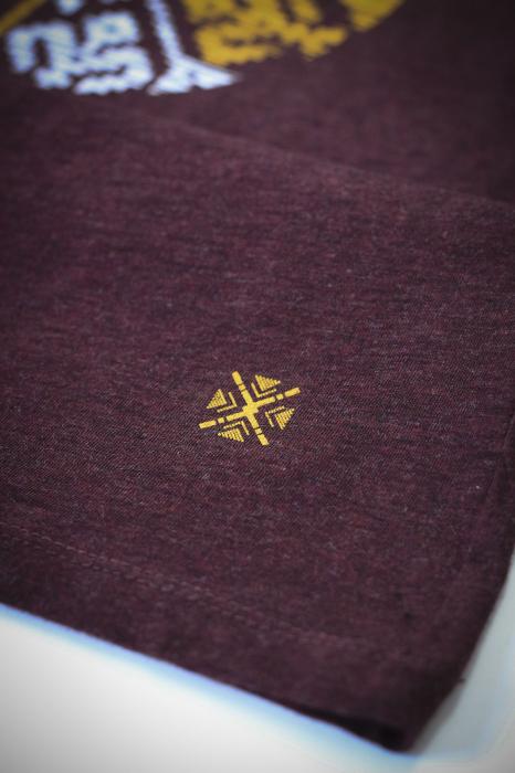Tricou Floare Tradițională, culoare burgund 2