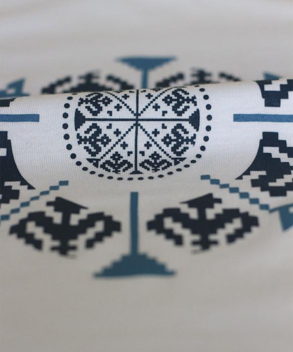 Tricou Floarea Tradițională, damă, culoare bleu [1]
