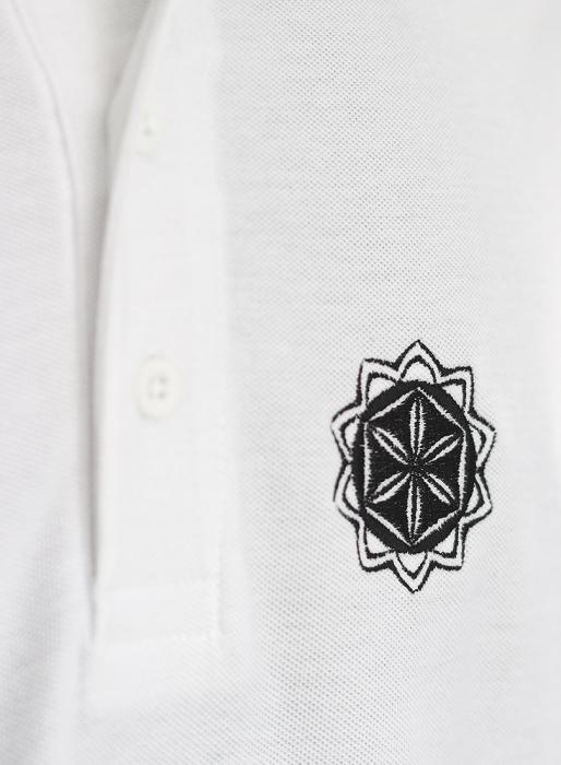 Tricou Floarea Vieții brodat - polo 1
