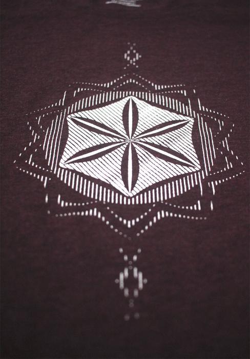 Tricou Floarea Vieții, damă, culoare burgund 2