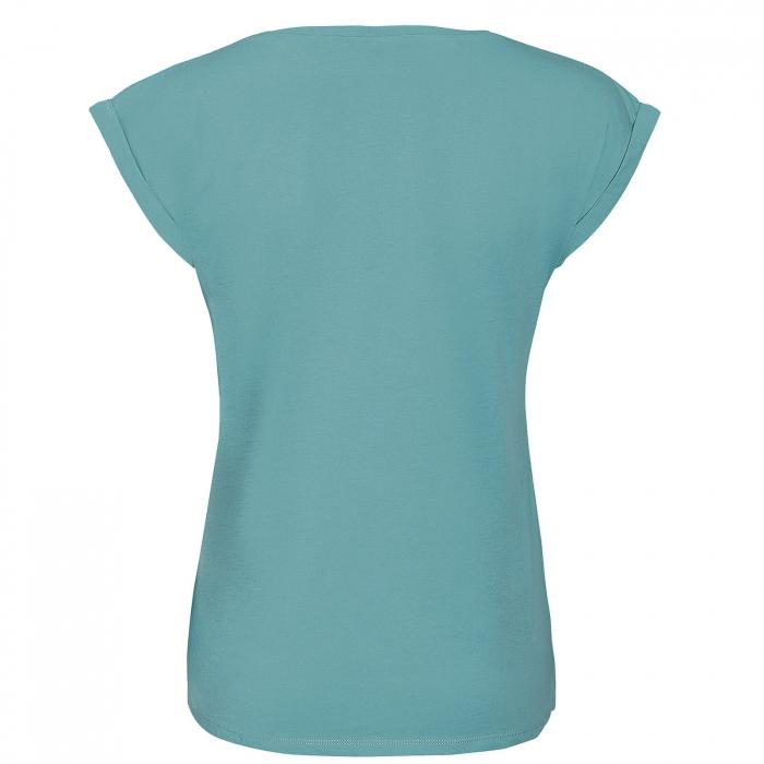 Tricou Floarea Vieții, damă, culoare turcoaz 1