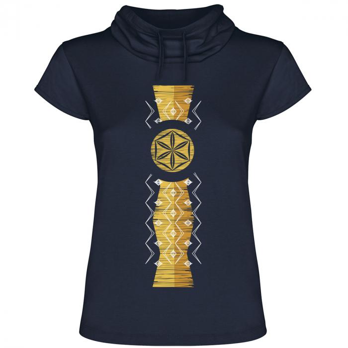 Tricou Infinitul, guler înalt, damă, culoare bleumarin 0