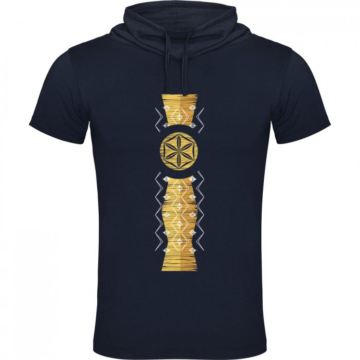 Tricou Infinitul, guler înalt, unisex, culoare bleumarin 0