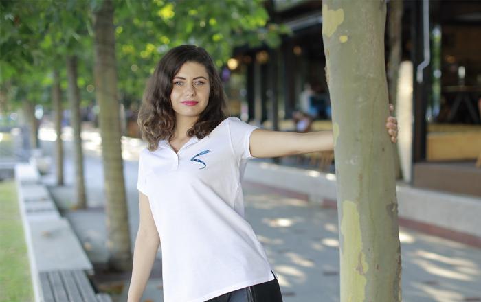 Tricou Lup Dacic, broderie, damă, culoare albă [2]