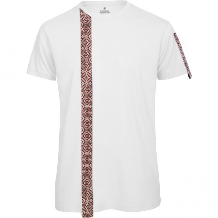 Tricou Motive Țesute, CRP33, bărbat, culoare albă 0