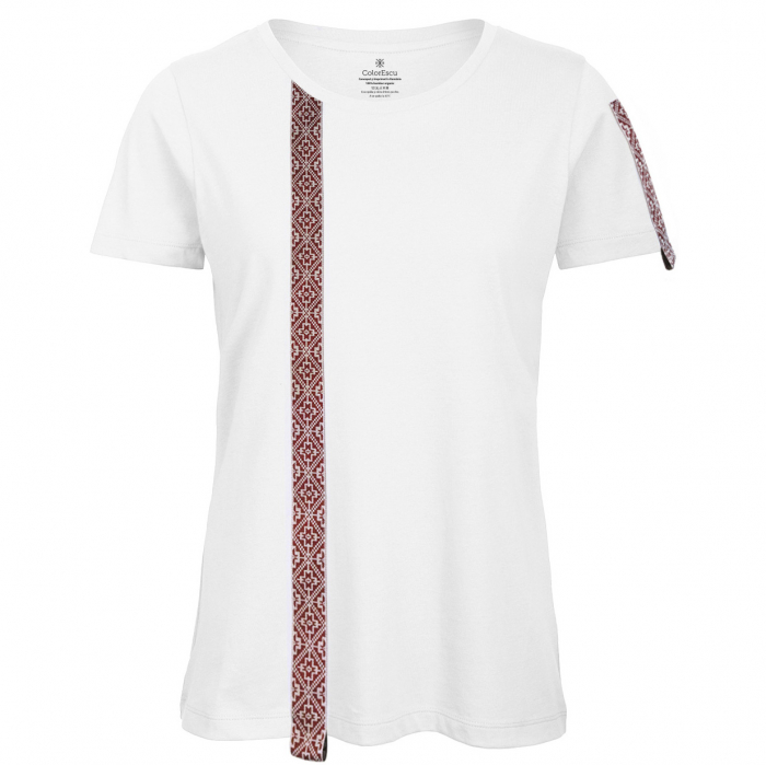 Tricou Motive Țesute, CIR46, damă, culoare albă 0