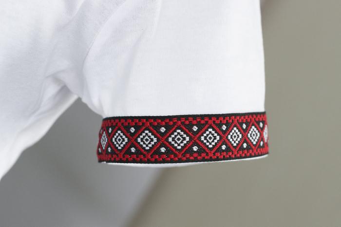 Tricou Motive Țesute, damă, culoare albă 2