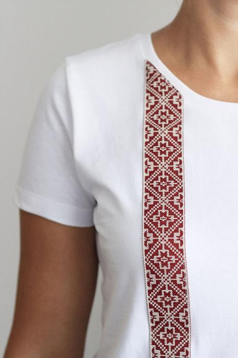 Tricou Motive Țesute, CIR46, damă, culoare albă 1
