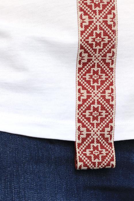 Tricou Motive Țesute, CIR46, damă, culoare albă 3