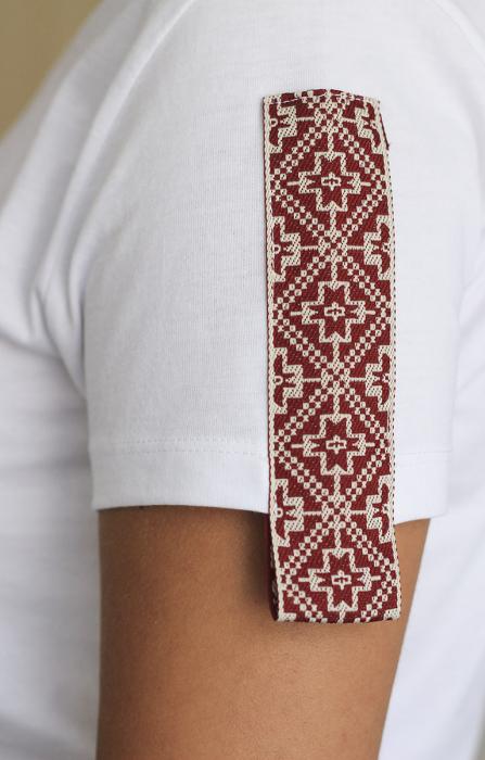 Tricou Motive Țesute, CIR46, damă, culoare albă 4