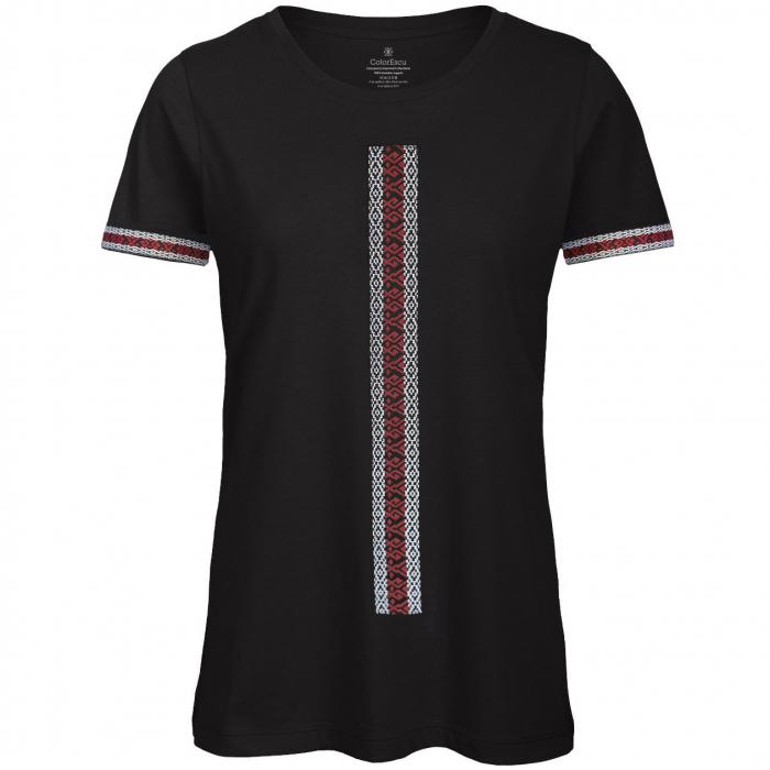 Tricou Motive Țesute, damă, culoare neagră 0