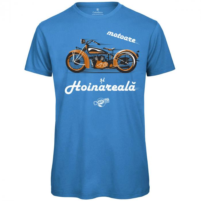 Tricou Motoare și Hoinăreală, culoare albastră 0