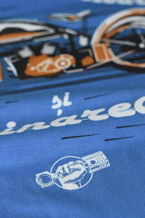 Tricou Motoare și Hoinăreală, culoare albastră 1