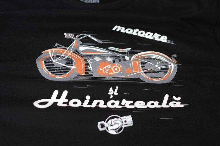 Tricou Motoare și Hoinăreală - negru 2
