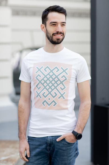 Tricou Origini - alb, bărbat 1