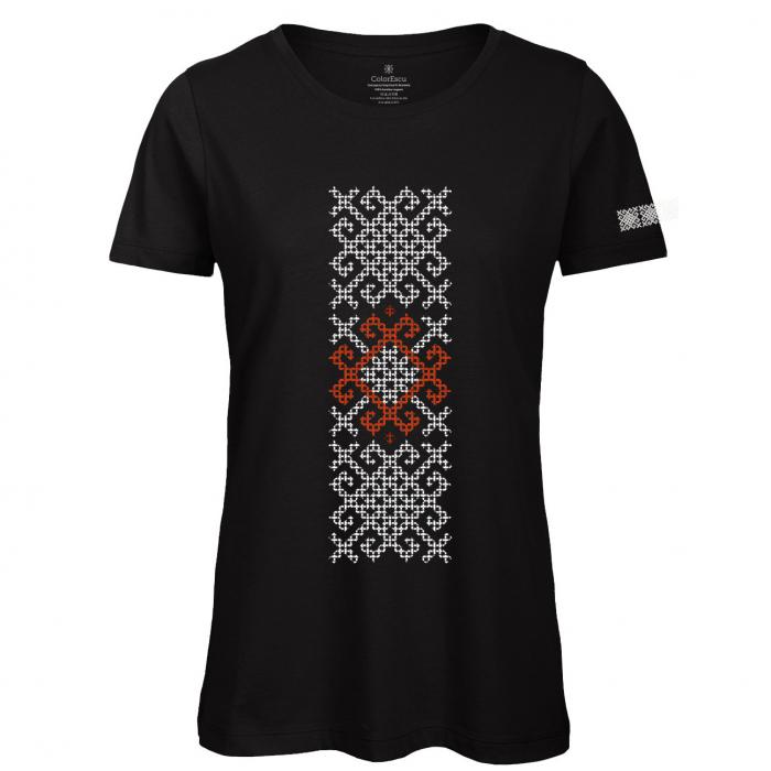 Tricou Origini - negru, damă 0