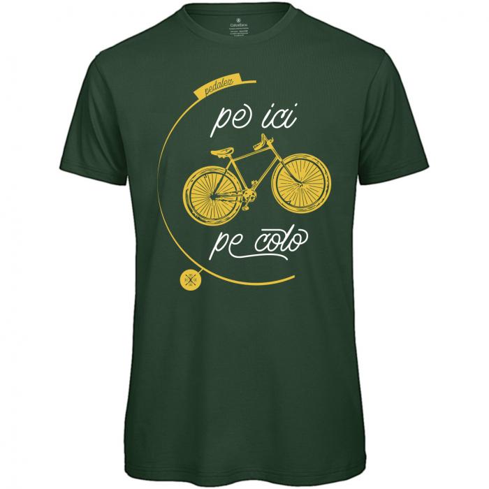Tricou Pe ici, Pe colo, bărbat, culoare verde [0]