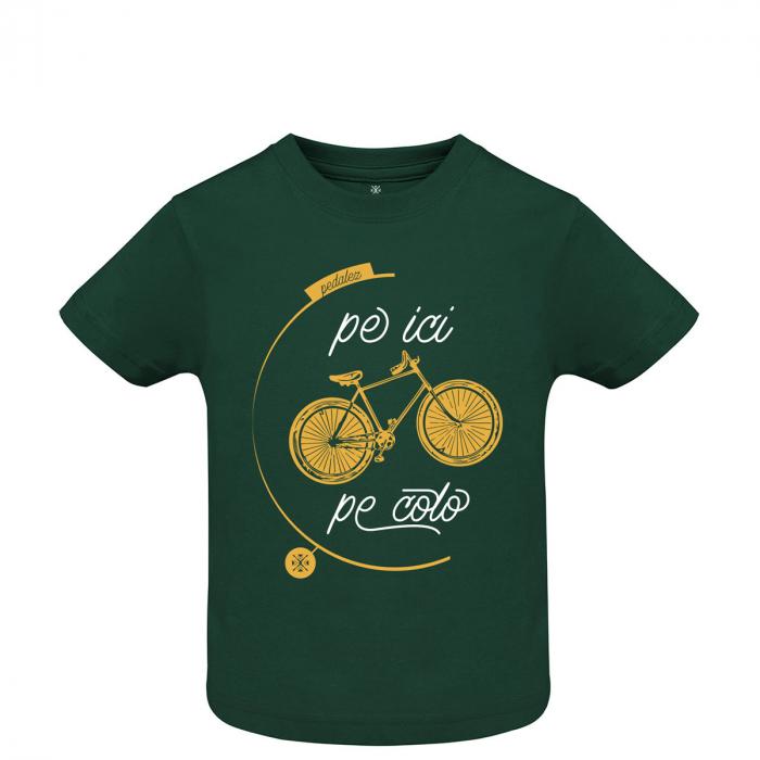 Tricou Pe ici, Pe colo, copii, culoare verde 0