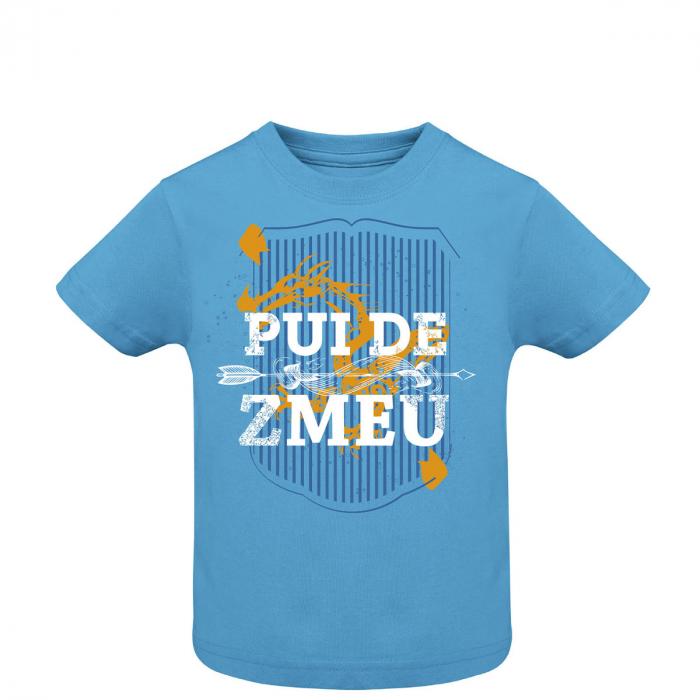 Tricou Pui de Zmeu, copii, culoare albastră 0