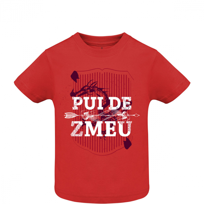 Tricou Pui de Zmeu, copii, culoare roșie 0