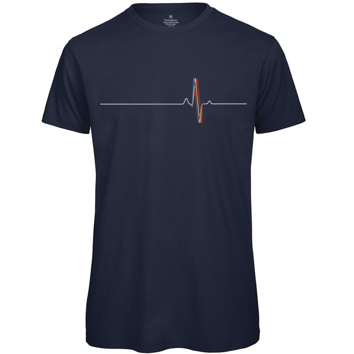 Tricou Puls Românesc, bărbat, culoare bleumarin [0]