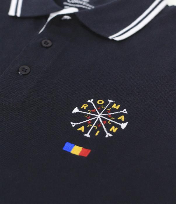 Tricou România broderie, culoare bleumarin [1]