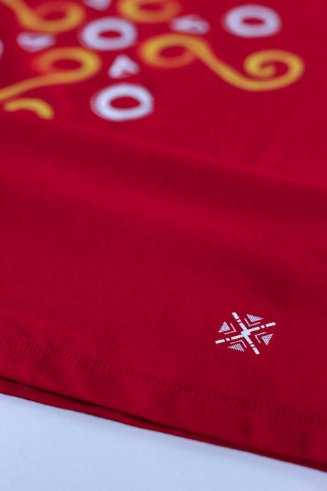 Tricou Simbol Cucuteni, damă, culoare roșie 2