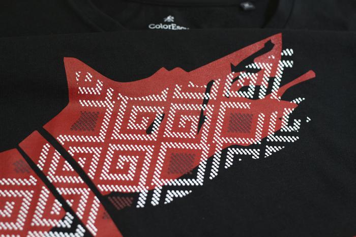 Tricou simbol Lupul Dacic - bărbat, negru 3