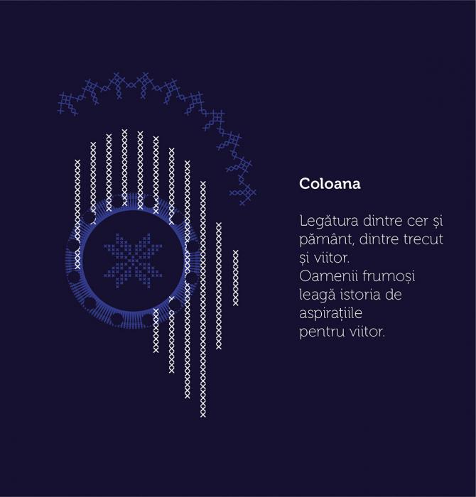 Tricou Simbol România, damă, culoare bleumarin 3