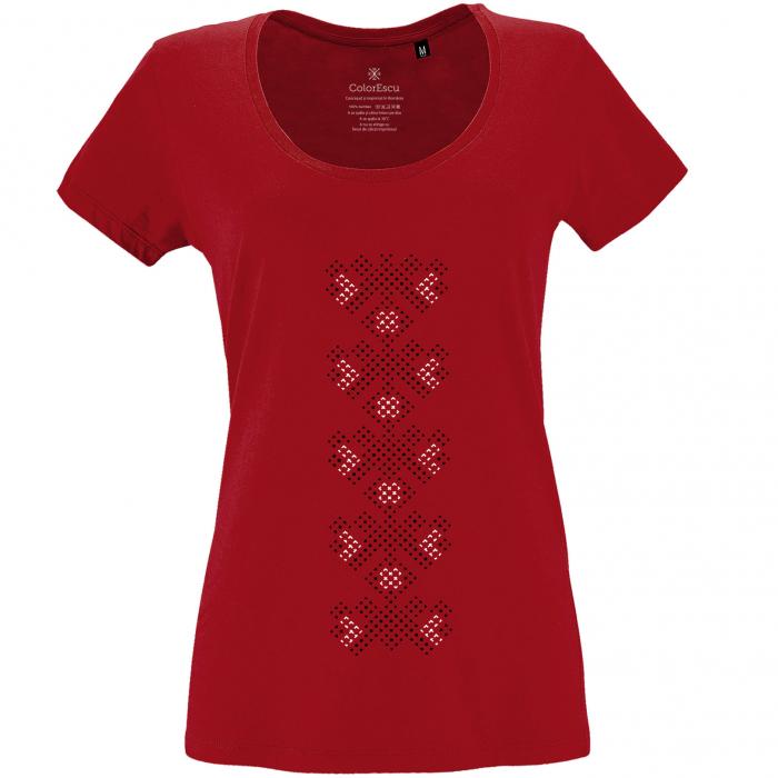 Tricou Simbol Traditii, damă, culoare roșie [0]