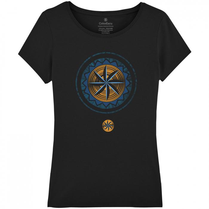 Tricou Simbol, damă, culoare neagră 0