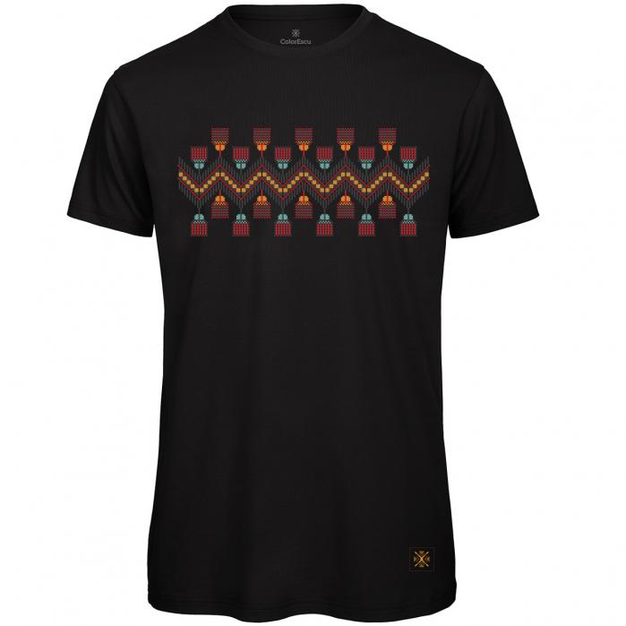 Tricou Tradiții, bărbat, culoare neagră 0