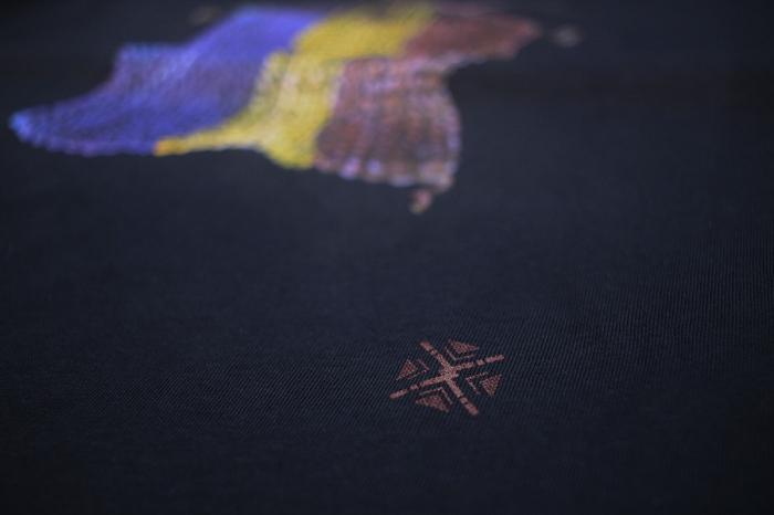 Tricou Tricolor Croșetat, bărbat, culoare bleumarin 2