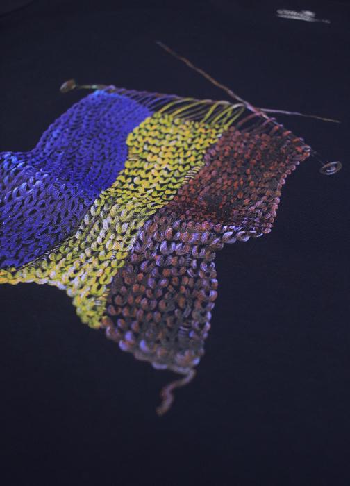 Tricou Tricolor Croșetat, bărbat, culoare bleumarin [1]